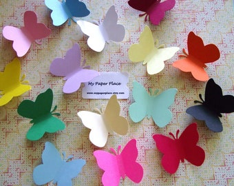 100  Butterfly Die Cuts- 2 inch cardstock-  Free Secondary Shipping