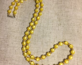 Mellow Yellow Vintage Necklace