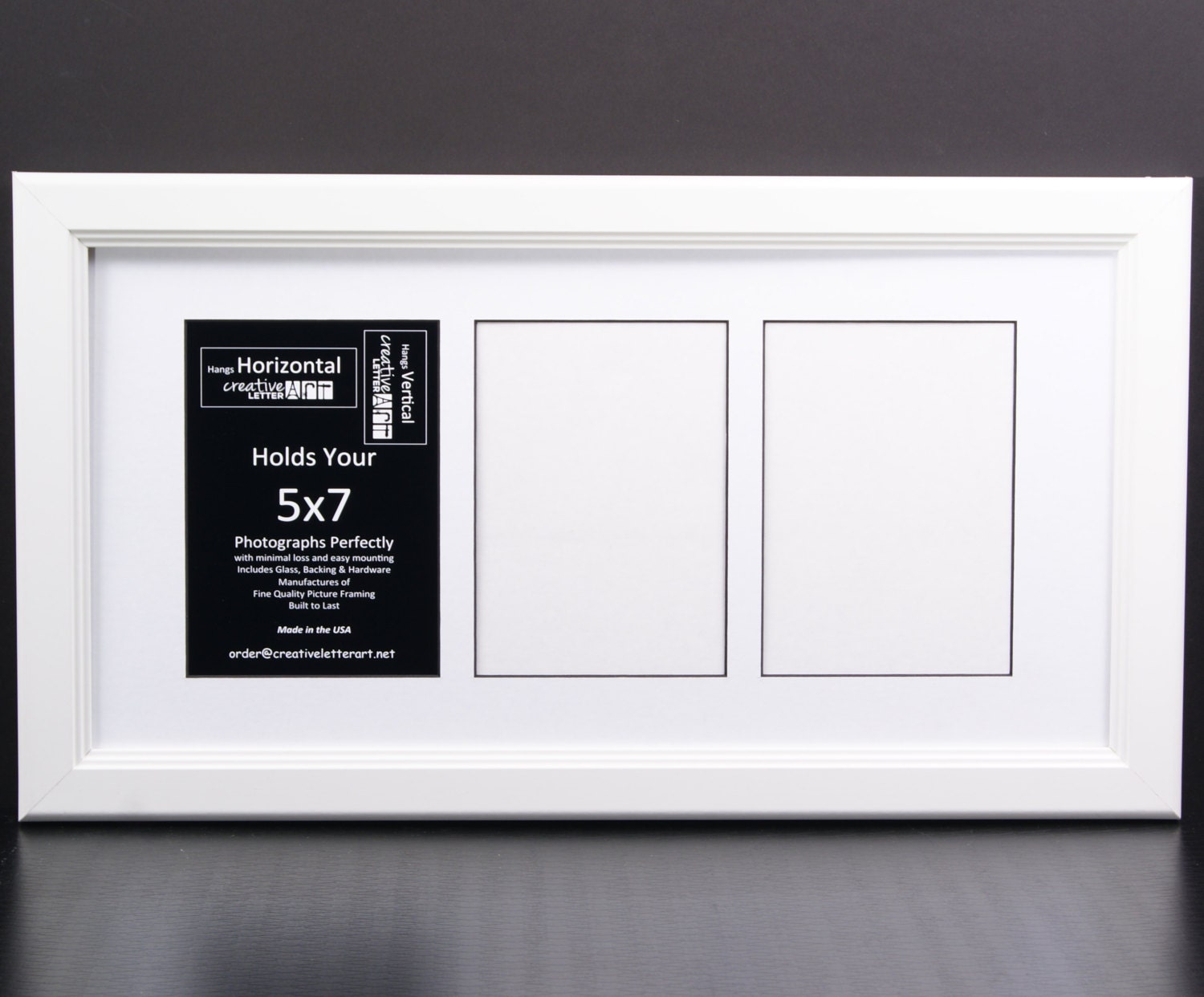5x7 Multiple 3 4 5 6 7 8 9 10 Opening White Picture Frame with ...