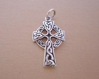 925 Sterling Silver Scottish Gaelic, CELTIC Cross Pendant