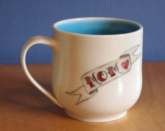 personalized tattoo mug MADE TO ORDER