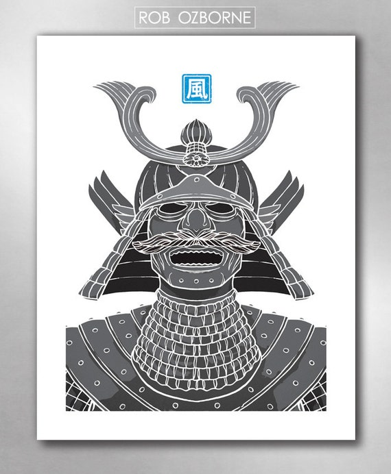 SAMURAI AIR from the Elements Collection Poster Art Print by Rob Ozborne