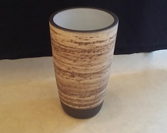 Jaap Ravelli handmade art-pottery vase, birch decoration, Netherlands, 1960's, signed and numbered 16-3