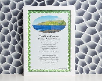 The Giant's Causeway A4 Print - Hand Crafted