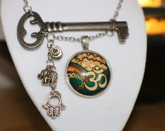 OM Charmed key necklace