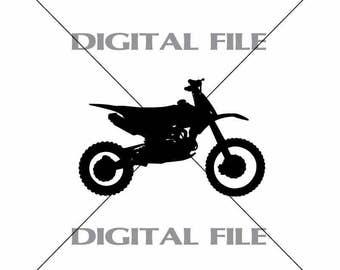 Dirt Bike Vector Images Vinyl Decal T-shirt Digital Cutting Files ,Svg File, Ai, Eps, PNG, A1
