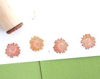 Chrysanthemum Solid Rubber Stamp