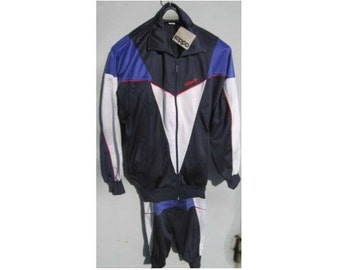 New ADIDAS tracksuit, blue vintage Adidas track suit, Adidas set, jacket pants hip-hop suit size M Medium D6 NWT