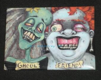 """Lori Gutierrez OOAK Art - """"Ghoul Friends"""" Magnet!!"""