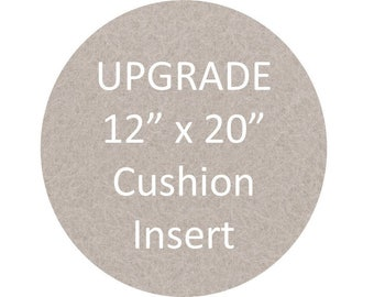 "Cushion Insert 12"" x 20"" - to complement our cushion covers"