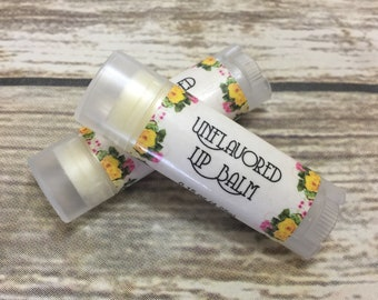 Unflavored Shea Butter Lip Balm