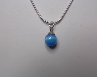 Blue tigers eye pendant