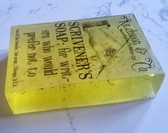 Gift soap: for scriveners (writers who would prefer not to)