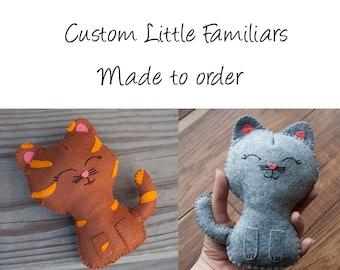 Little Familiar, Kitten Stuffed Animal, kitten, felt plush, custom plush, felt animal, memorial plush