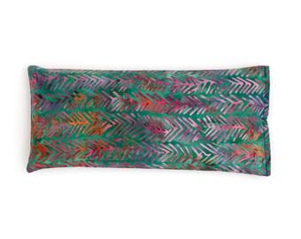 Lavender Eye Pillow - Teal Batik Eyepillow - Yoga Prop - Eye Pillow - Zen Aromatherapy  - Sleep Aid - Spa gift - Organic flax pillow