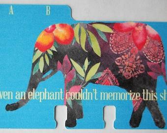 Elephant Rolodex Divider Cards