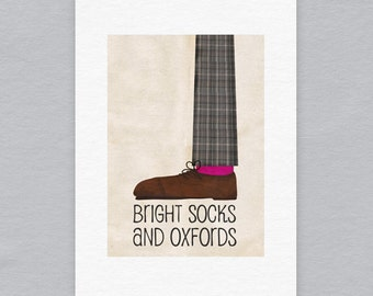 Bright socks and Oxfords - Limited edition A4 print