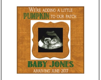 FALL PREGNANCY REVEAL idea ~ Sonogram Photo ~ Sonogram Picture Frame ~Baby Reveal Idea to Parents~ Reveal to Family ~ Fall Due Date