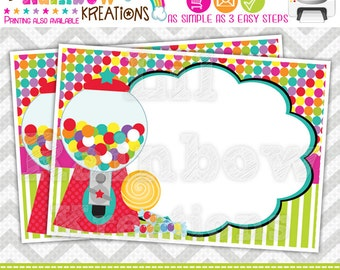 673 Food Labels: Cute Candy Shop 3 Candy or Buffet Labels-Instant Downloadable File