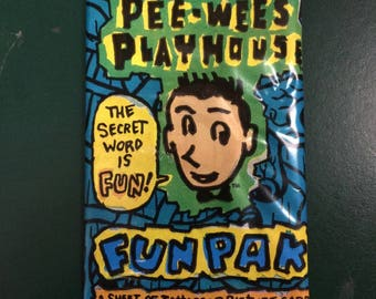 Pee-Wee's Playhouse Sealed Trading Card Pack by Topps