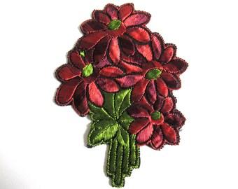 Flower applique, 1930s vintage embroidered applique. Vintage floral sewing supply. #64AGC8K2C