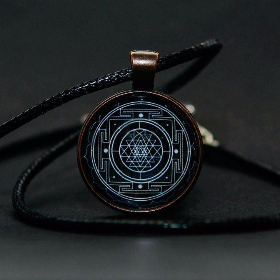 Sri yantra pendant sri yantra necklace sacred geometry ampliar aloadofball Image collections