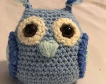Small Stuffed Owl (With Rattle Option)