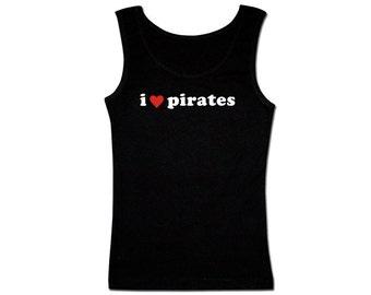 Men's Pirate Tank Top - I Heart Pirates 2