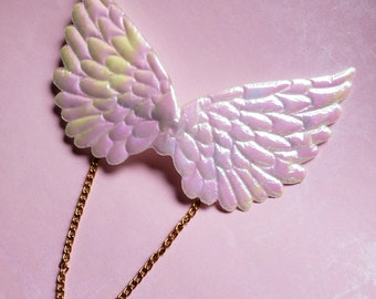 Holographic Angel Wing Hair Barrette