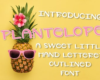 Plantelope, outlined, Font, Hand Written, Hand Lettered, Simple, Sans Serif, Font Bundle, Discount, Typeface, Cutting, Silhouette, Cricut