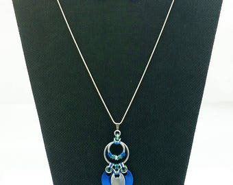 Nouveau Pendant and Earring Set