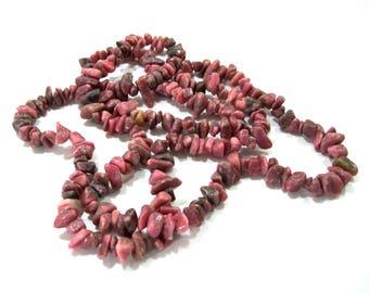 Stone Necklace, Vintage Necklace