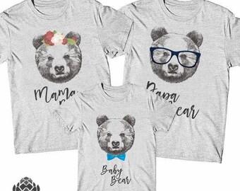 Papa Bear Mama Bear Baby Bear shirts Package,Family bear, Family shirts,  Family  gift, Mother's day, Father's day gift