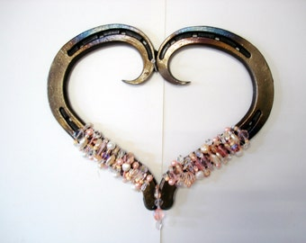 horseshoe art heart
