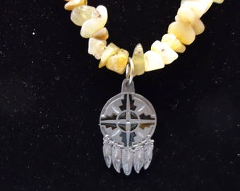 Waxed Opal Necklace Pendant Native American Made