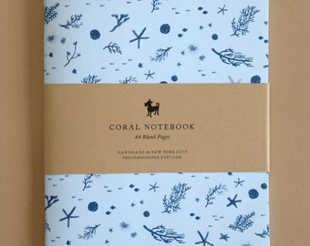 Coral Pattern Blank Notebook