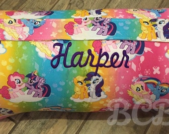 Pony Nap Mat MLP Sleep Mat Preschool WITH BLANKET Girl Nap Mat Pink Purple Green Yellow Baby Shower Gift Personalized Gift Monogrammed