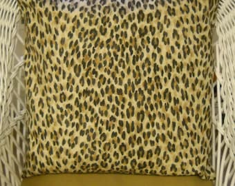 "waverly leopard and lauren zebra print 22"" square pillow cover...floor pillow"