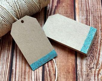 Rustic wedding decor, set of 25 custom handmade paper wedding tags, vintage engagement party bridal shower wedding labels, DIY place cards