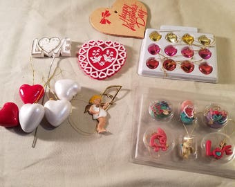 Miniature Valentine ornaments and decorations