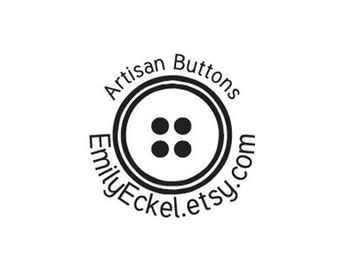 custom button Rubber Stamp - Handcrafted Wood