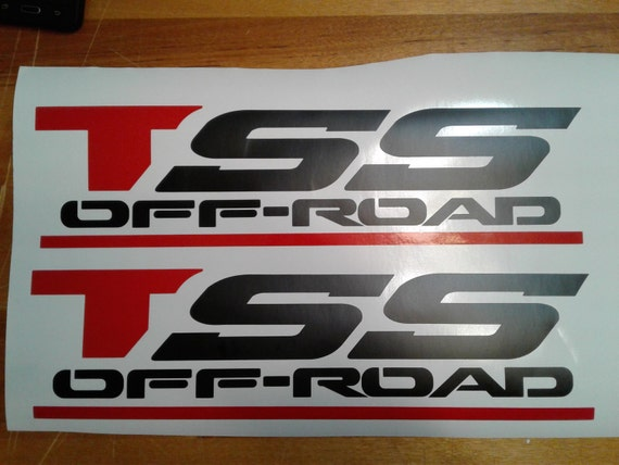 Toyota Tss Black Flat Decal Off Road Sticker 16 X 4
