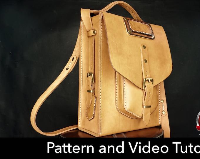 Bag Pattern - Leather DIY - Pdf Download - Leather Pattern - messenger bag template - bag template