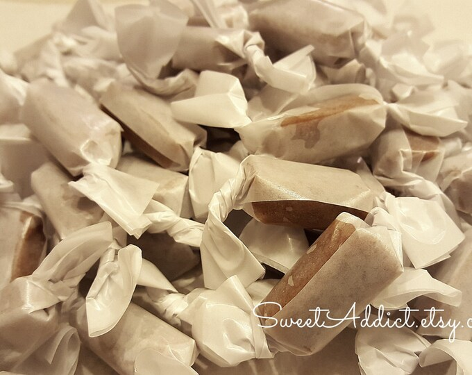 Salted Fleur de Sel Caramel Sample - Great for Wedding, Engagement, Party Favors - Featured by the FOOD NETWORK for an event on BROADWAY
