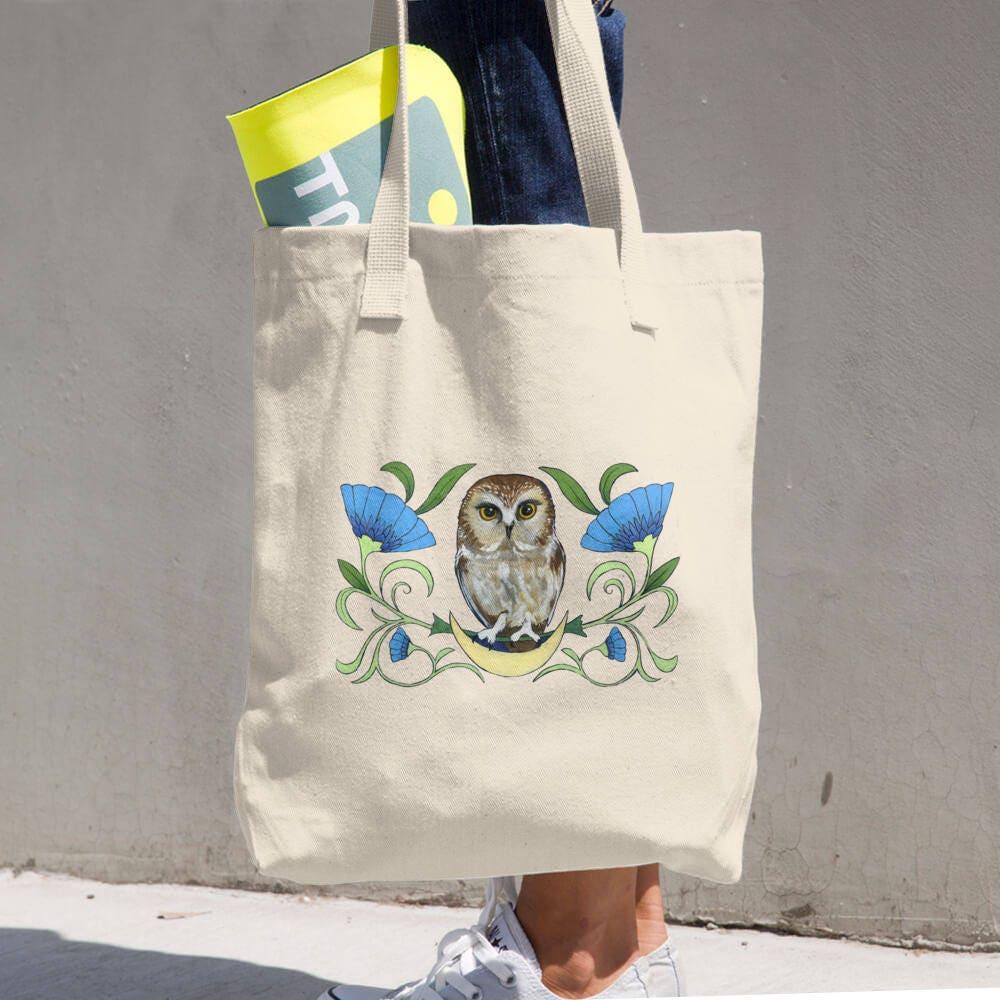 Sah Wetzstein Eule natürlichen Baumwolle Einkaufstasche