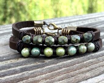 Boho Bracelet- Beaded Bracelets- Wrap Bracelet- Bohemian Jewelry- Fixer Upper- Bestfriend Gift- Boho Bracelet Set- Joanna Gaines
