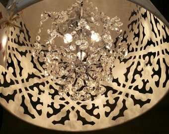 Crystal Chandelier. So gorgeous! White, Black,Brown, Grey or Turqoise also available...