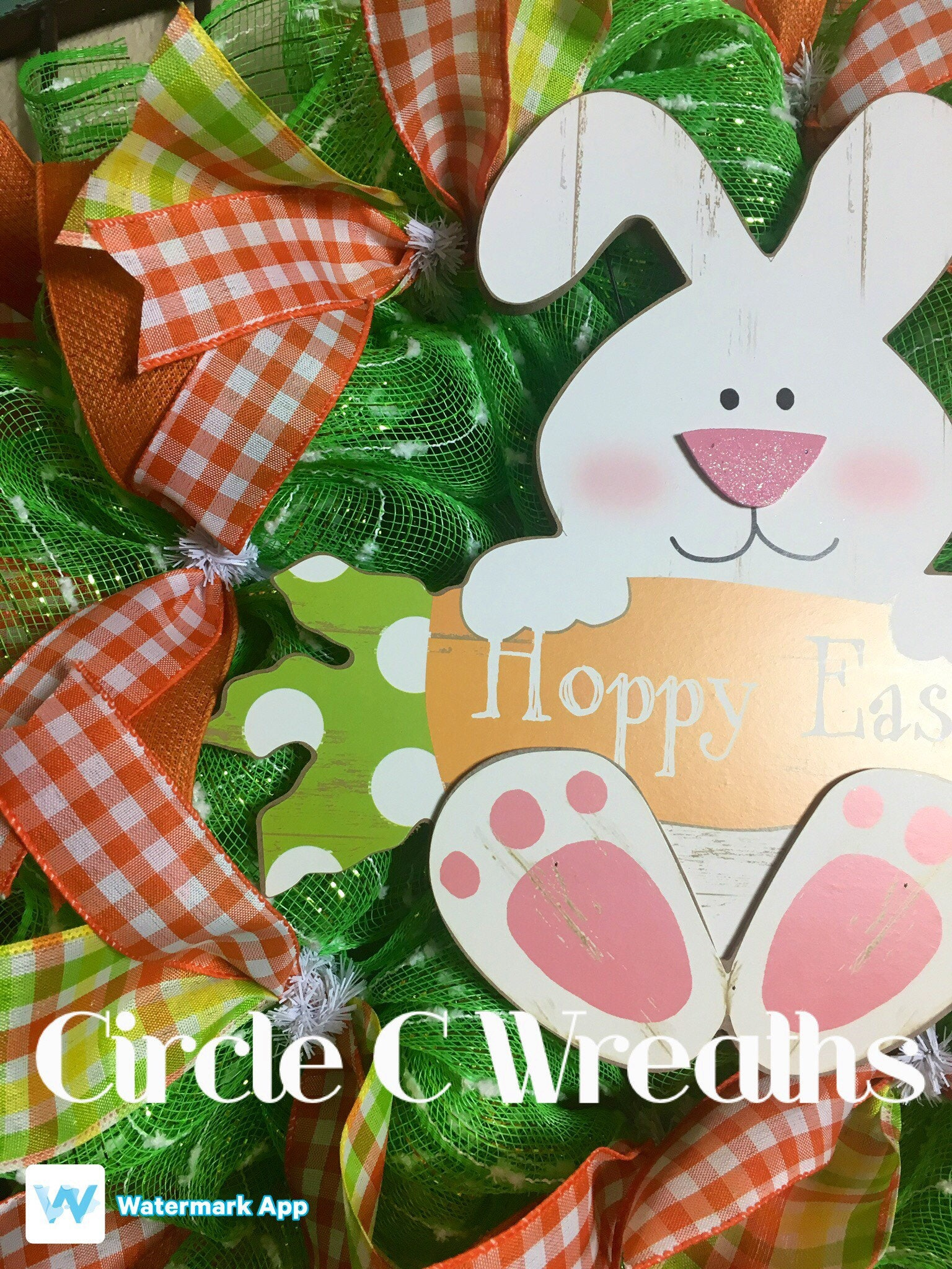 Happy Easter Front Door Wreath, Easter Front Door Wreath, Easter ...
