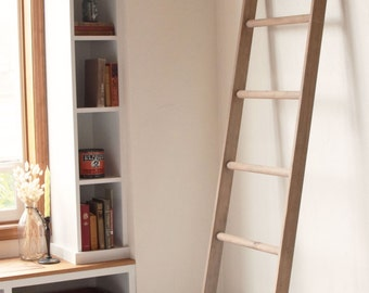 Large Rustic Blanket Storage Decorative Wooden Ladder Rustic