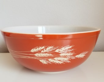 Pyrex 4 1/2 qt Autumn Harvest Wheat #404 Mixing Bowl